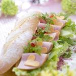 ハム&ハート形チーズのガーリーコッペパンサンド