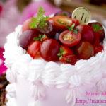 鮮やか美しい赤!チェリートマトと葡萄のショートケーキ