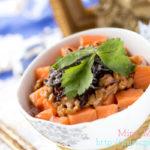サーモン刺身と塩昆布の納豆ご飯