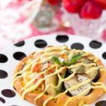 豪華盛り 野菜のトマトカレーピザパン