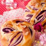 紫芋のねじり巻きあんパン