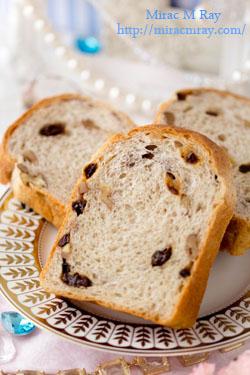胡桃レーズン胚芽食パン