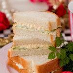 イギリス食パンで卵ときゅうりのサンドイッチ