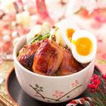 半熟卵と鶏の照り焼き丼