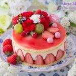 フレジエ風苺のチーズカスタードクリームケーキ丸型