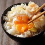エビシュウマイ温泉卵かけご飯【レシピ】