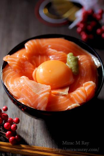 サーモン刺身卵かけご飯-3