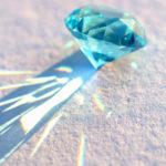 ブルークリスタルガラスダイヤモンド
