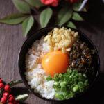 ヤマモト食品つる太郎揚げ玉卵かけご飯【レシピ】