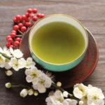 白梅と煎茶
