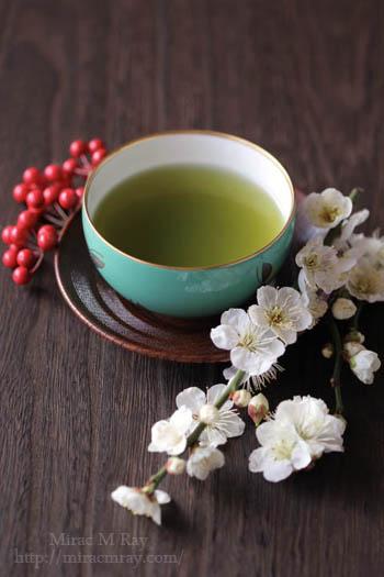白梅と煎茶-2