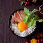 鮭と三つ葉の卵かけご飯【レシピ】