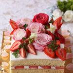 あまおう苺のスクエアショートケーキ