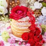 ストロベリー&カスタードクリームネイキッドレイヤーケーキ