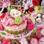 トンプソン葡萄と苺のムースケーキ
