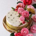 和風抹茶・柚子と小豆のチーズムースケーキ