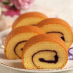 ブルーベリージャムロールケーキ