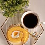 レモンロールケーキ&コーヒー