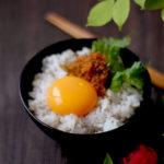 玄米麦飯で味よし子っこちゃん卵かけご飯