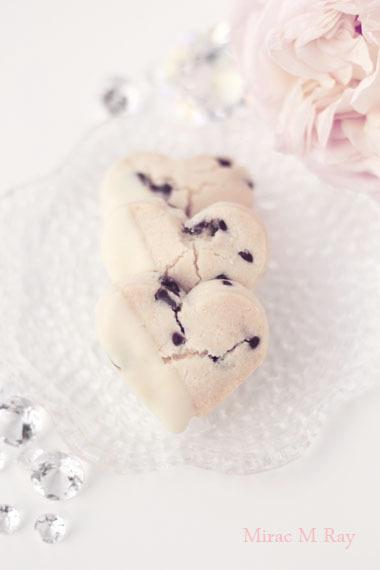 ハート形ホワイトチョコがけチョコチップちんすこうレシピ