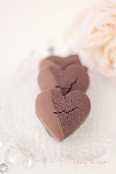 ハート形ミルクチョコがけチョコレートちんすこうレシピ