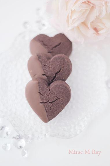 ハート形ミルクチョコがけチョコレートちんすこう