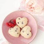 【レシピ】ハート形ツインチョコチップ チョコ/ストロベリーちんすこう