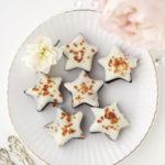 【レシピ】ホワイトチョコレートがけ星形ブラックココアちんすこう