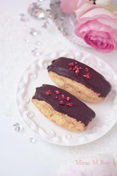 バトン形ビターチョコレートがけスコーン レシピ