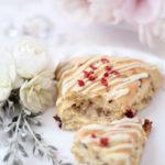 【レシピ】ホワイトチョコレートグレーズド胡桃クランベリースコーン