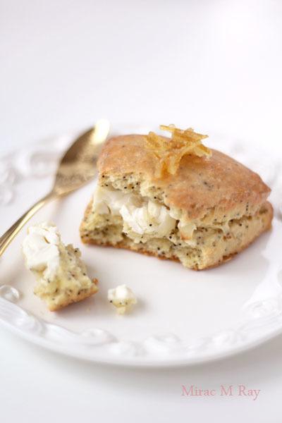 レモンポピーシードクリームチーズスコーン【レシピ】