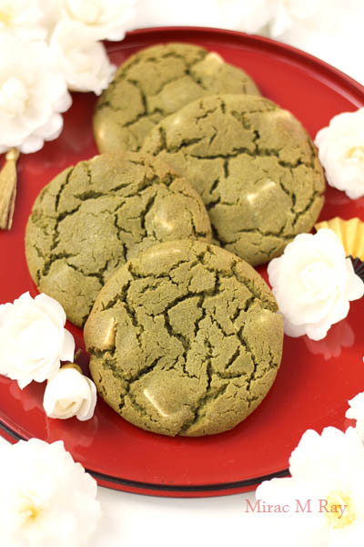 【レシピ】ねっちり強めしっとりやわらかアメリカンクッキー抹茶ホワイトチョコレート
