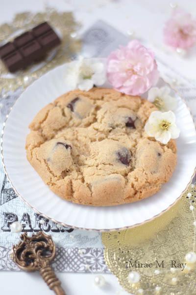 【レシピ】しっとりソフトアメリカンクッキー・ビターチョコチャンク(冷やしてねっちり強め)