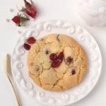 【レシピ】しっとりソフトアメリカンクッキー・甘酸っぱいクランベリー&ホワイトチョコレート(冷めるとねっちり強め)