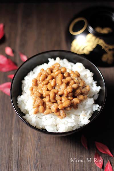もち麦入り白米で納豆ご飯