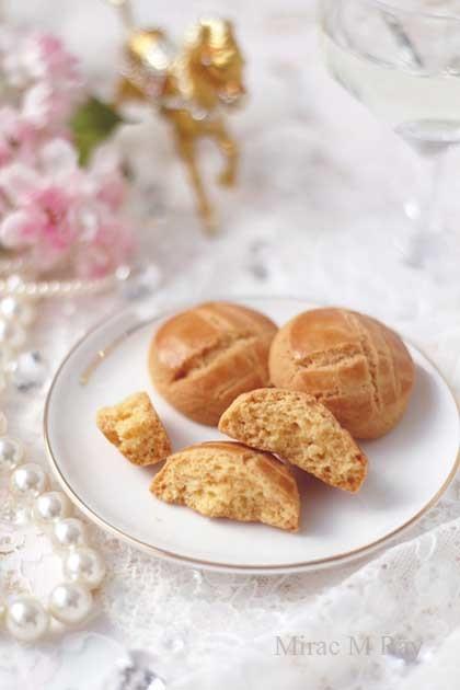 【レシピ】スライスチーズで作る・ころんと厚焼き丸形チェダーチーズサブレクッキー