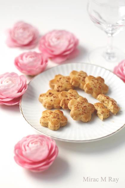 【レシピ】儚い口どけ桜形チーズサブレクッキー