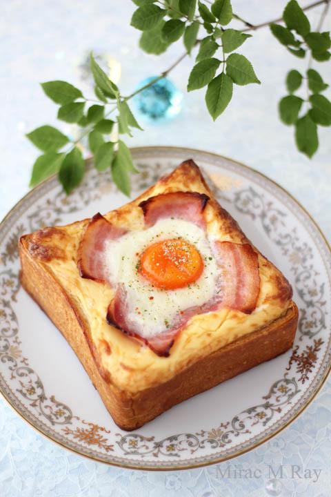 【レシピ】贅沢に分厚いラピュタパン・マヨネーズベーコンエッグトースト/Mayonnaise Bacon Egg Toast