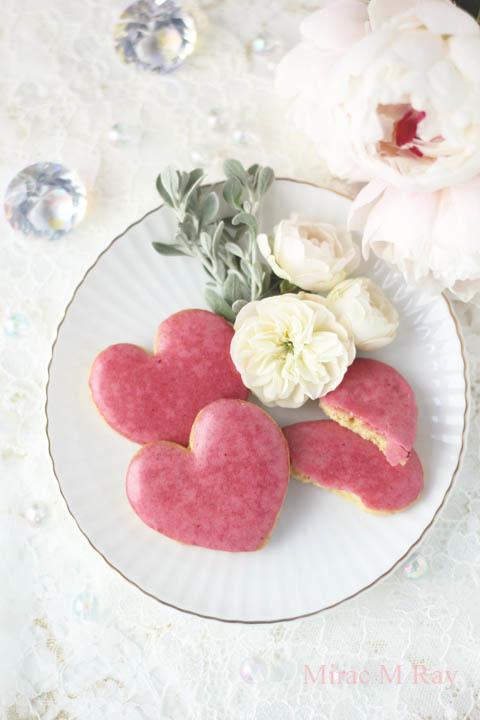 【レシピ】ハート形サブレフランボワーズ・ラズベリーアイシングクッキー