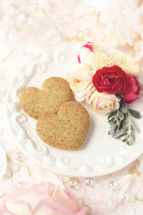 【レシピ】甘さ控えめさくほろ。ハート形アールグレイ紅茶サブレクッキー