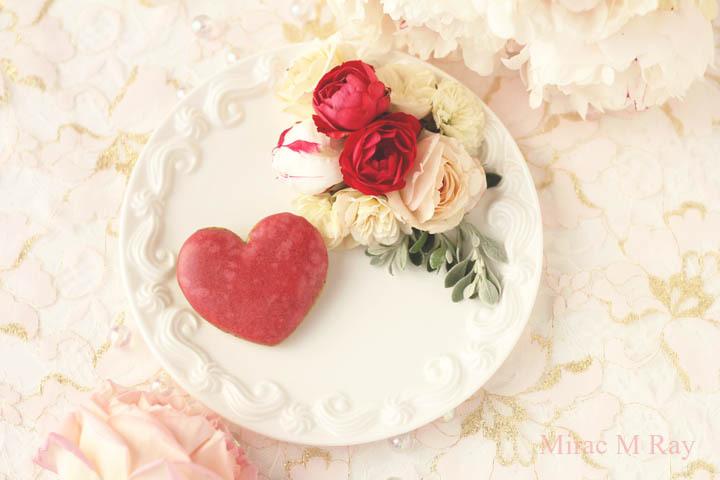 【レシピ】サブレアールグレイフランボワーズ ハート形紅茶サブレアールグレイ×ラズベリーアイシングクッキー
