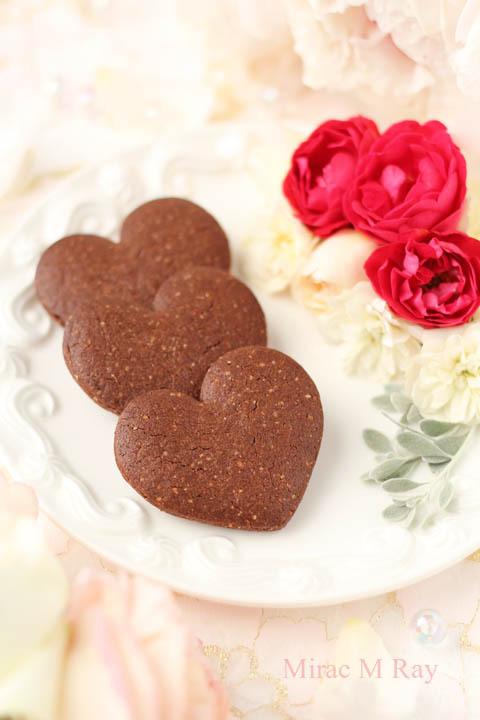【レシピ】ハート形サブレショコラ(チョコレートクッキー)