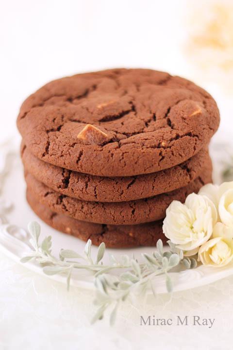 【レシピ】冷やしてねっちり強め・しっとりソフトアメリカンクッキー・ココア×ホワイトチョコレートチャンク