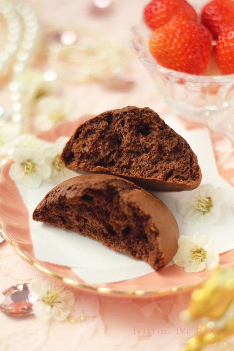 【レシピ】チョコレート甘食 シンプルにココアの味。はちみつ&メレンゲ入りver