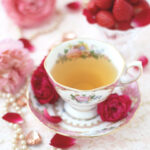 Tea Time with Roses and Strawberries