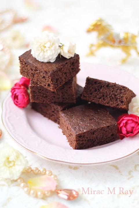 【レシピ】チョコレートブラウニー 甘さ控えめふんわり軽いケーキ食感ver.