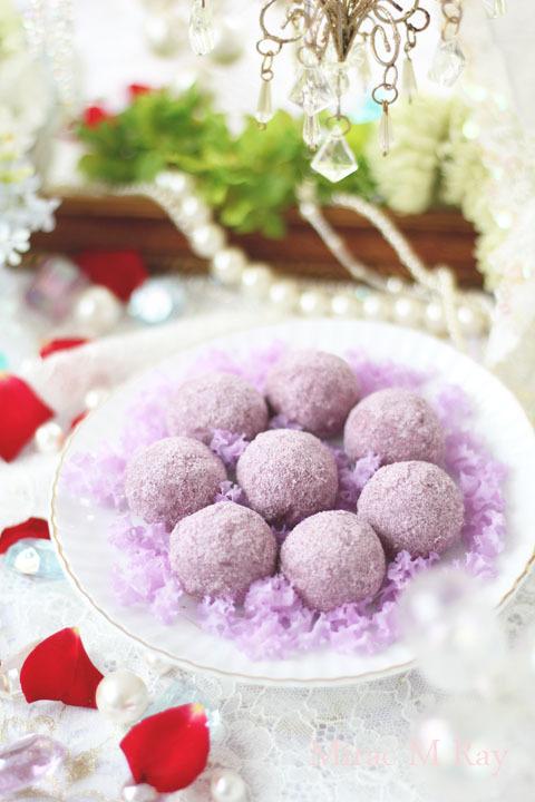 【レシピ】じわっとほどける口どけ・紫芋スノーボールクッキー