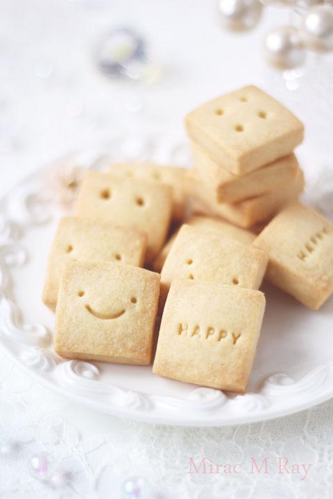 【レシピ】ハッピー&スマイル・正方形ショートブレッド
