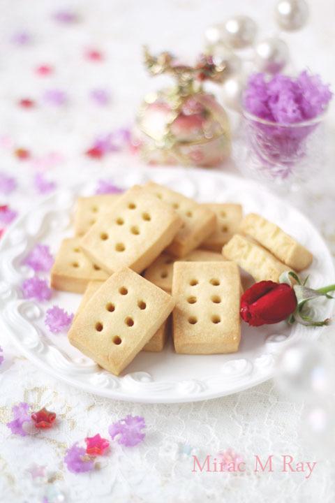 【レシピ】塩味のあるバターの香り。ショートブレッド